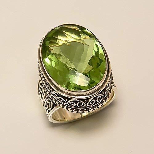 anillo de cuarzo 925 joyería de plata