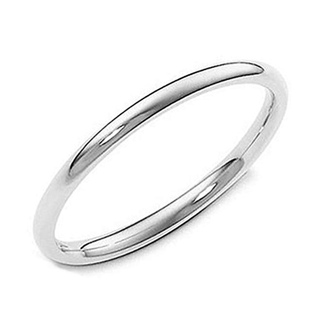 Anillo de boda de plata de ley de 0.079 in