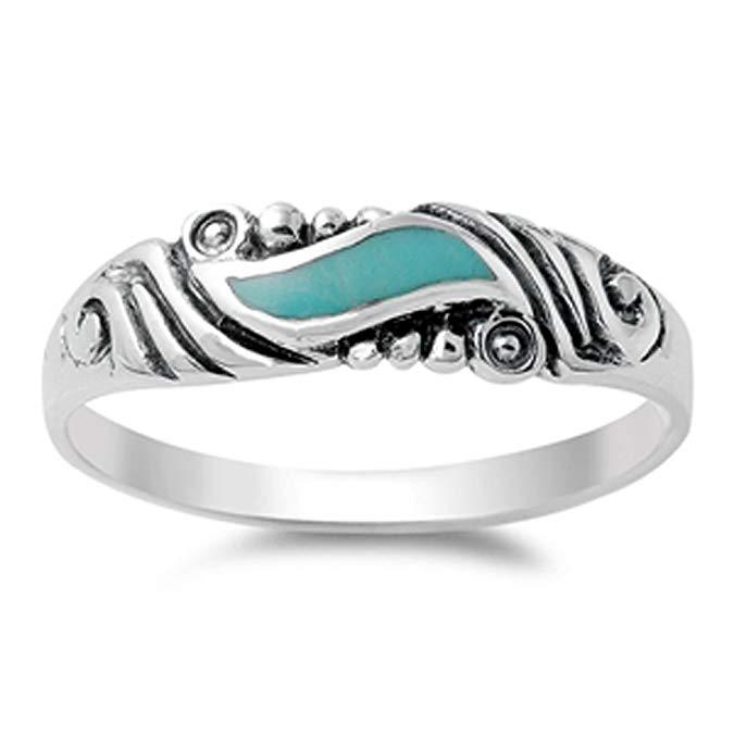 Elija su color plata de ley anillo de espiral