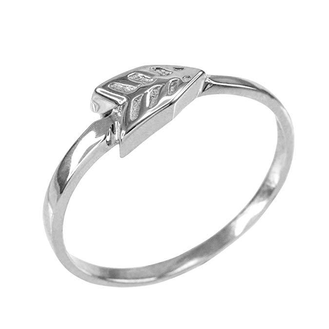 Dainty 925 plata esterlina Flecha anillo para las mujeres