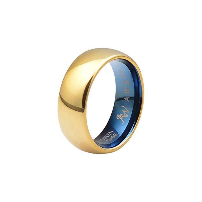 plata, oro rosa/oro, anillo de boda
