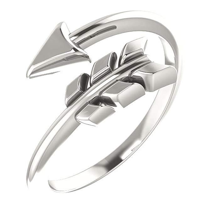plata de ley Flecha anillo