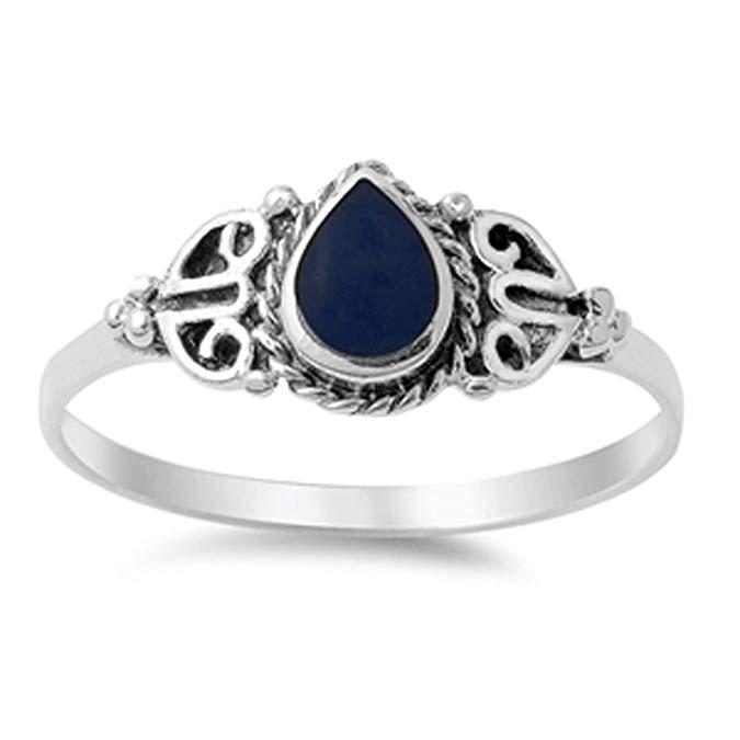 ELIJA SU COLOR anillo de plata con gota
