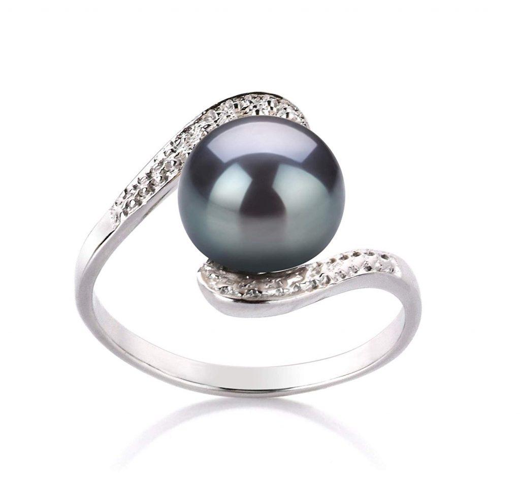 perlas cultivadas de plata esterlina 925 de calidad AA de agua dulce 9-10 mm para mujeres