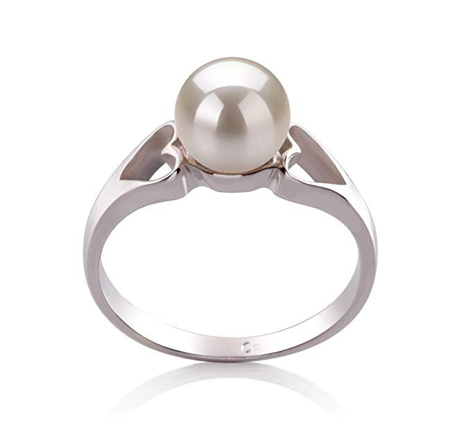925 de plata esterlina anillo de perlas cultivadas para mujeres