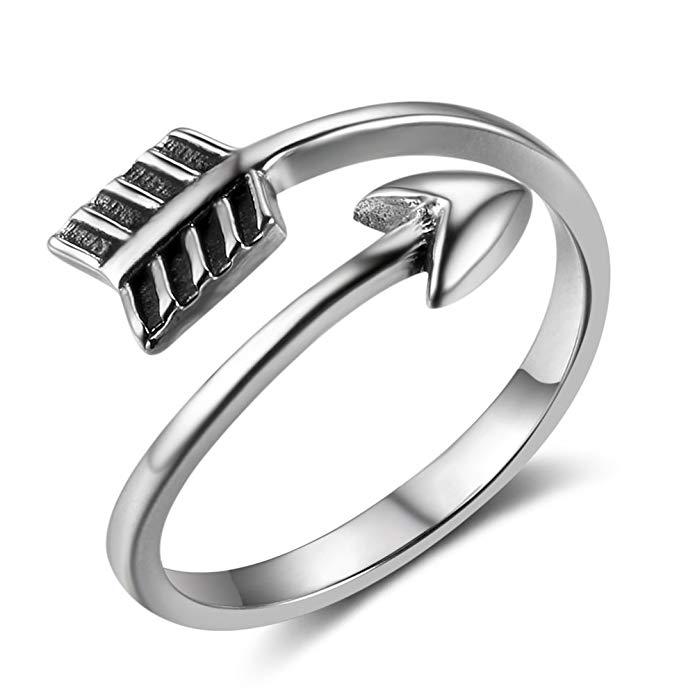 Anillo ajustable de plata de ley para mujer y hombre