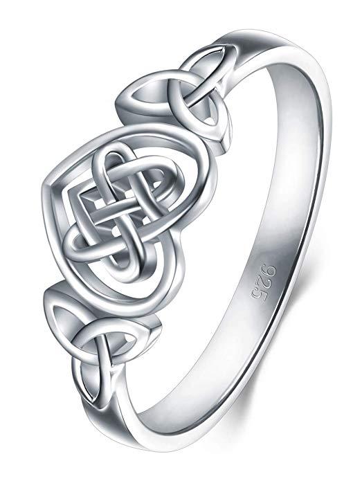 Anillo de plata esterlina 925, anillo apilable