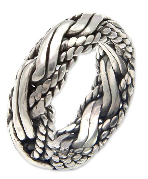 Plata de ley 925 anillo de los hombres, 'Reptiles