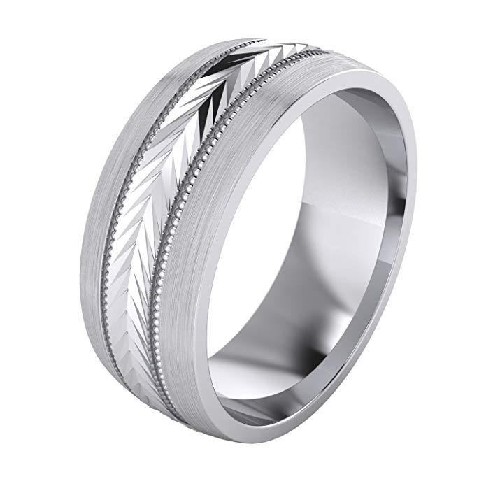 Anillo de boda de 5 estilos, de plata de ley maciza