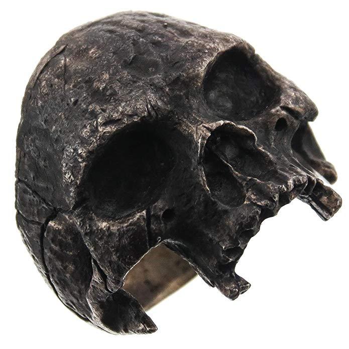 Anillo de ciclismo para hombre Masonic Half Skull