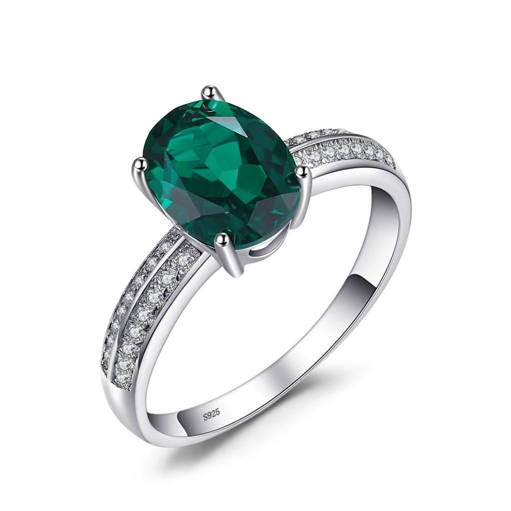 JewelryPalace Creado por la mujer Blue Sapphire Nano Russian Emerald
