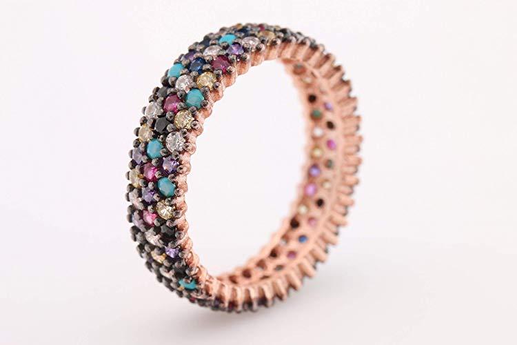 Diseño especial 3 líneas Multistone joyería turca hecha a mano