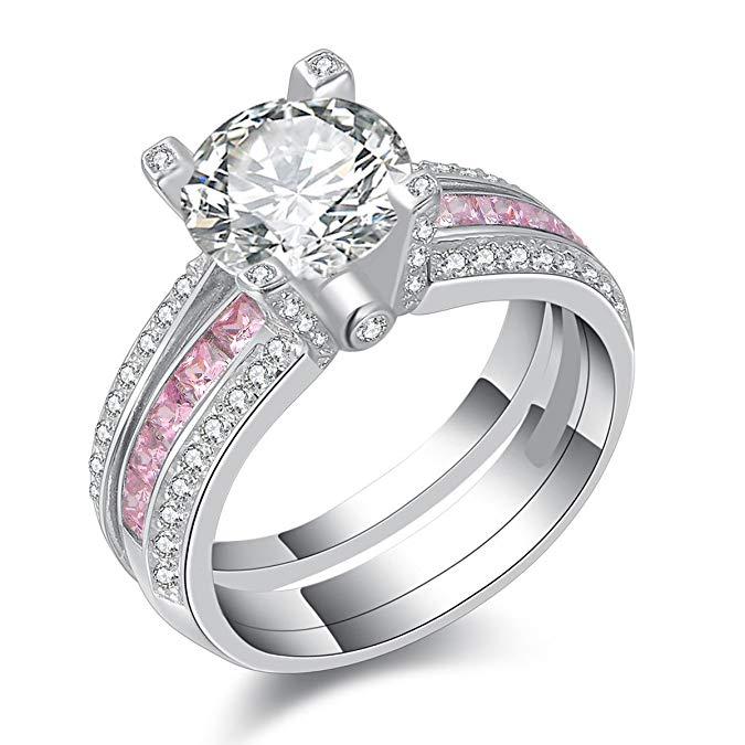 anillo de boda de plata de ley 925