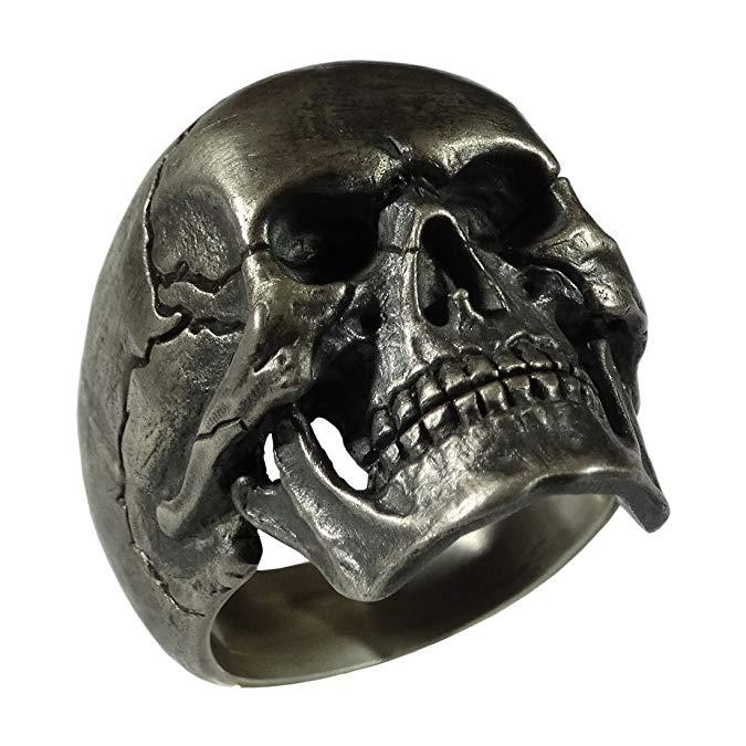 Plata de ley 925 Full Harley de mandíbula Cráneo