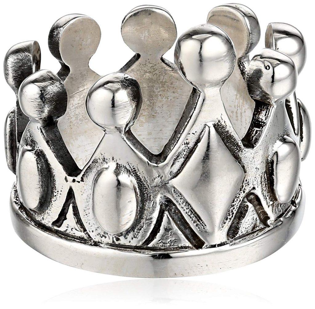 King Baby Tamaño de plata esterlina Anillo de la corona de los hombres